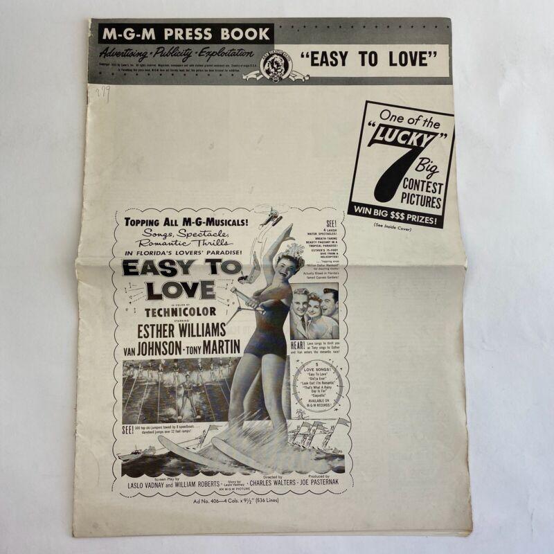 Vintage Movie Pressbook Easy To Love 1953 Esther Williams Tony Martin