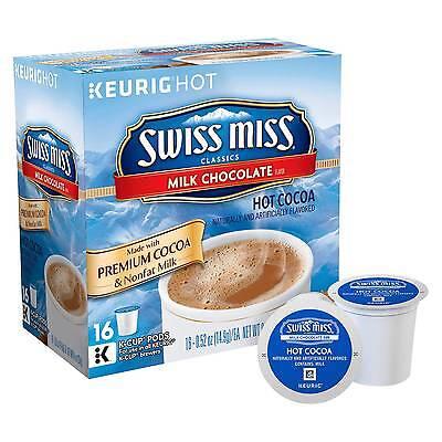 Swiss Miss Milk Chocolate Hot Cocoa Keurig K-Cup Pods - 16ct