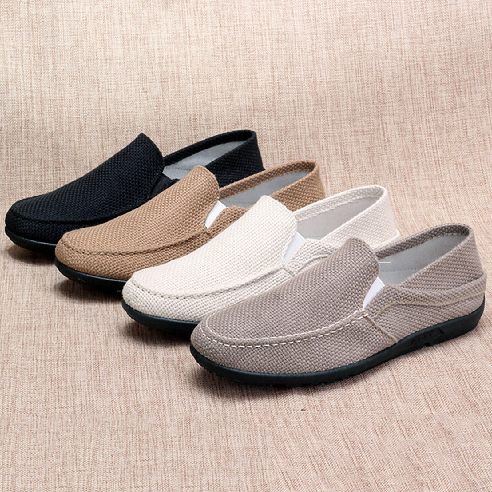 Men's Casual Driving Shoes Slip On Canvas Loafers Moccasins Smart Flats Shoes US 1