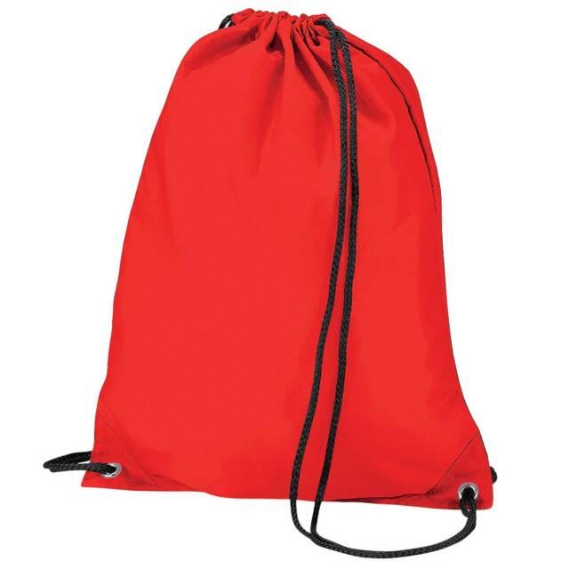 x10 Red Drawstring Gym Sports School PE Bag Bulk Buy Job Lot