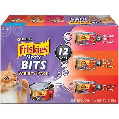 Purina Friskies Meaty Bits Variety Pack Adult Wet Cat Food    2 Packs Of 12  5 5