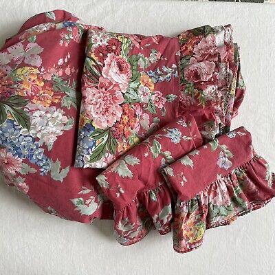 Ralph Lauren Beach House Southampton Queen Sheet Set Fitted Flat Pillow Floral