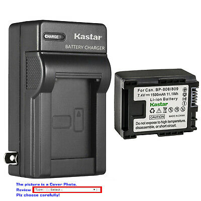 Kastar Battery AC Wall Charger for BP-809 & Canon FS100 Flash Memory Camcorder