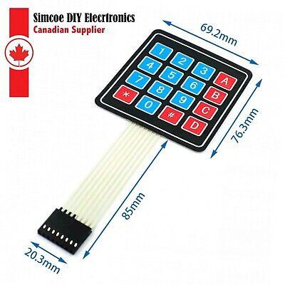 4 X 4 Matrix Array 16 Key Membrane Switch Keypad Keyboard For Arduinoavr 1099