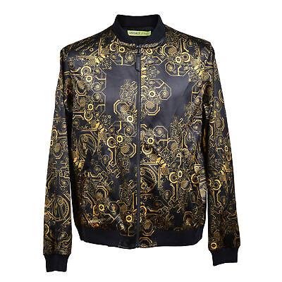Versace Jean Men's Gold/ Black Poly Blend Jacket EU 50/52 US M/L NEW