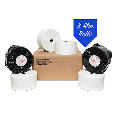 Nautilus Hyosung Nh 1800se - 3 18 X 915 Heavy Thermal Paper 8 Rolls