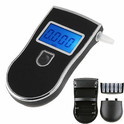 LCD Display Police Accurate Digital Breath Alcohol Tester Breathalyser Analyzer