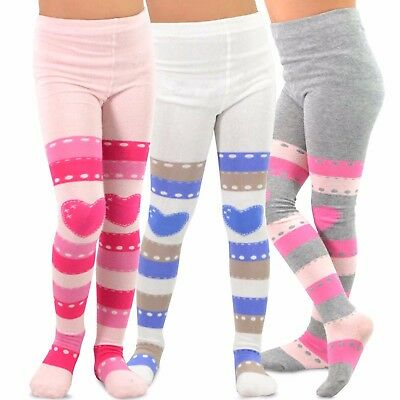 Striped Tights For Kids (TeeHee Kids Girls Fashion Tights 3 Pair Pack (Striped with)