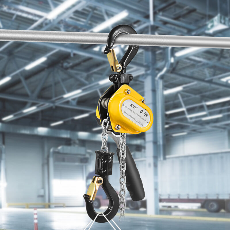 Brandnew Mini Lever Chain Hoist 1/2ton 1100Lbs 15Ft 4.5M Yellow