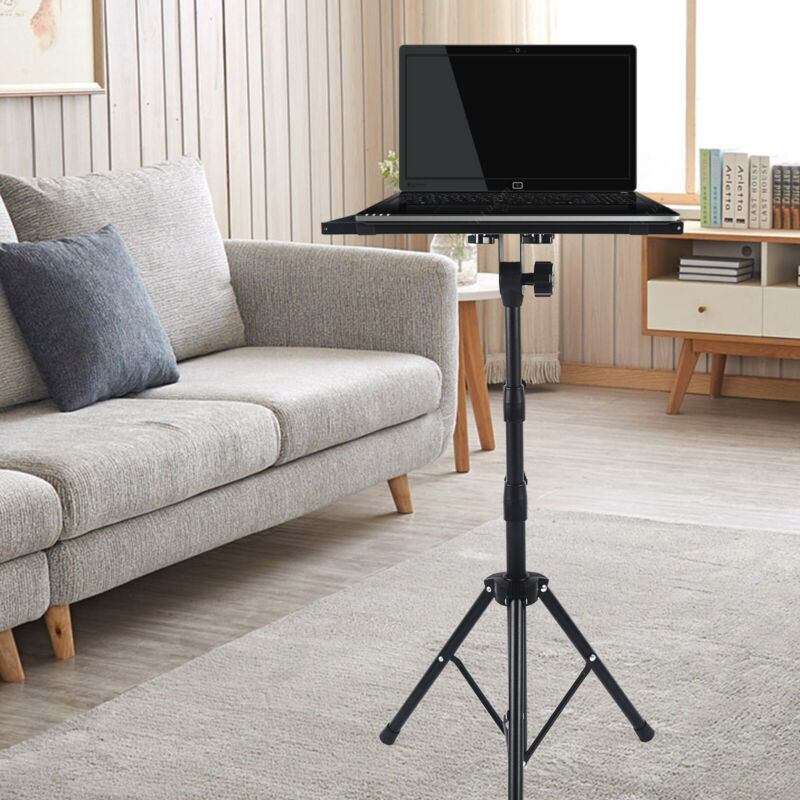 Adjustable Laptop Projector Stand With Tray Computer Camera Tripod Stand Office