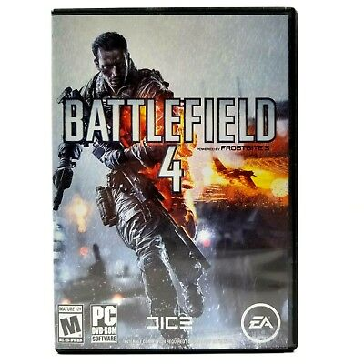 Battlefield 4 PC Video Game 2013 Shooter DVD-Rom windows Vista SP2 EA Dice Guc