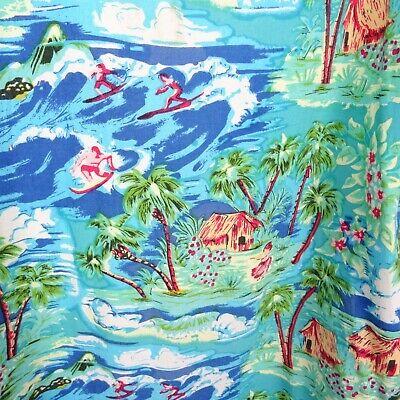 Vintage Hawaiian viscose shirt top tropical surfing holiday cheery size L T192