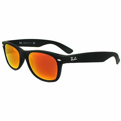 Ray-ban Sonnenbrille Neu Wayfarer 2132 622/69 Gummi Schwarz Orange Flash Mirror
