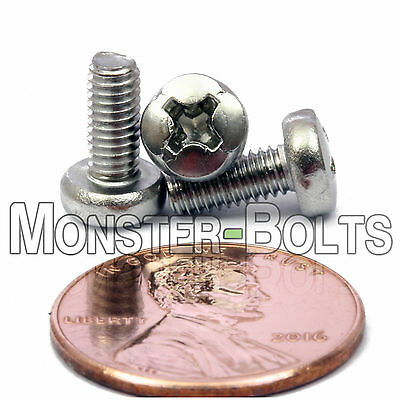 M3.5 Stainless Steel Phillips Pan Head Machine Screws Cross Recessed Din 7985 A