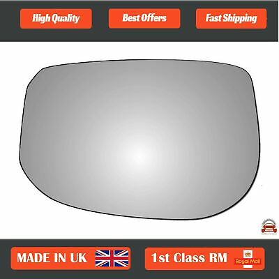 Plate #JH005 Right Side Convex Wing Mirror Glass For HONDA CRV 1996-2006