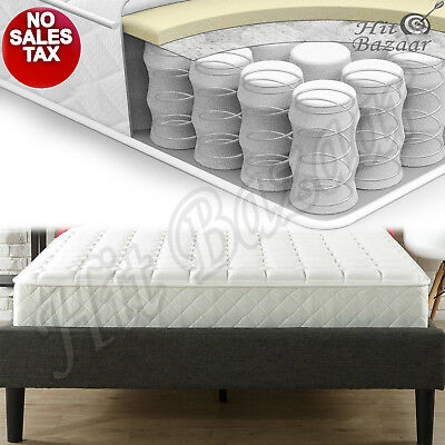 8 Spring Coil Mattress In A Box King Size Firm Bed Comfort Bedroom Furniture