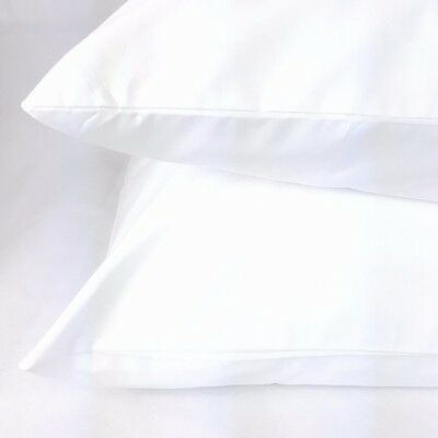 Hotel Quality Large Size Bag Style Pillowcase Cotton Rich White, New, Imperfect