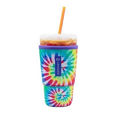 JavaSok Reusable Cup Insulator Drink Coffee Neoprene Sleeve Holder Tie Dye Large
