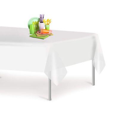 White 12 Pack Premium Disposable Plastic Tablecloth 54 Inch. x 108 Inch. Rect...](Disposable Table Cloth)