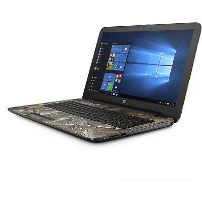 "NEW HP 15.6"" Intel Pentium 2.56Ghz Max Quad Core 4GB 1TB DVD Webcam Win10 Camo"