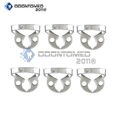 6 Endodontic Rubber Dam Clamps W3 Dental Instruments