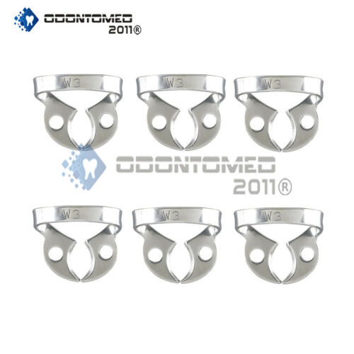 6 Endodontic Rubber Dam Clamps #w3 Dental Instruments