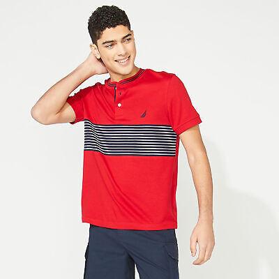 Nautica Mens Slim Fit Stripe Henley