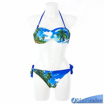 Bikini donna moda mare costume due pezzi reggiseno fascia push up 0DECOS005