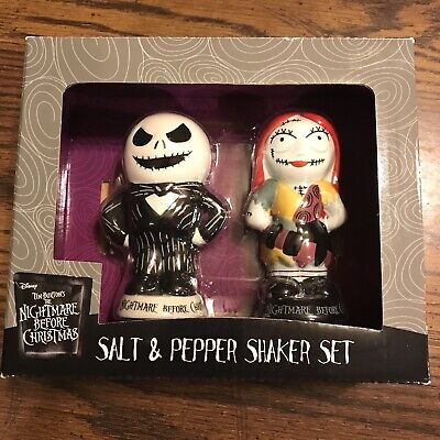 Nightmare Before Christmas Salt and Pepper Shakers Disney NEW Tim (Nightmare Before Christmas Salt And Pepper Shakers)