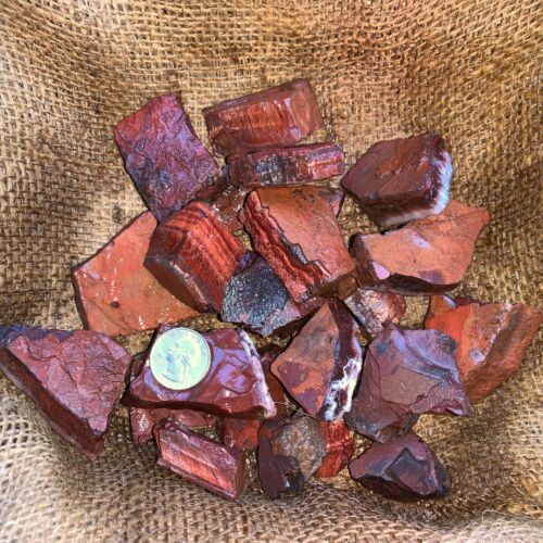 RED Tiger Eye Rough - 500 Carat Lots + a FREE Faceted Gemstone