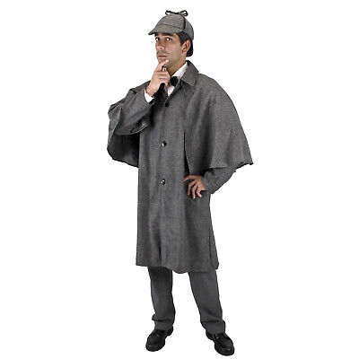 Sherlock Holmes Cape (Victorian Steampunk Sherlock Holmes Halloween Costume Trench Cloak Cape Jacket)