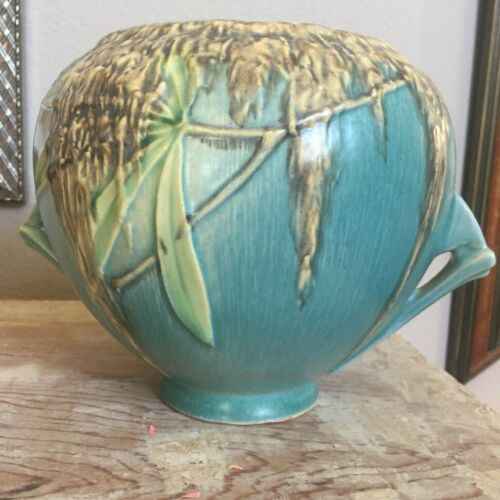 "Roseville Art Pottery Blue Moss 6"" Bowl Jardiniere 290-6"