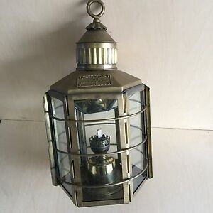 Genuine Vintage Solid Brass Clipper Ship Lamp/Lantern Calamvale Brisbane South West Preview