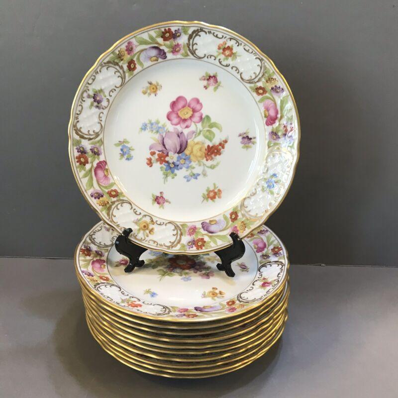 """Schumann Arzberg Germany  E&R Empress """"Dresden Flowers 7.5"""" Salad Dessert Plate"""