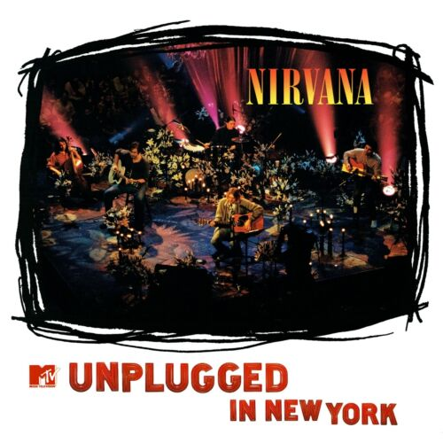 NIRVANA MTV Unplugged BANNER HUGE 4X4 Ft Fabric Poster Tapestry Flag album cover