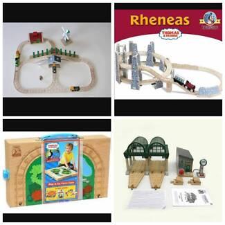 Thomas the tank wooden train sets/toys