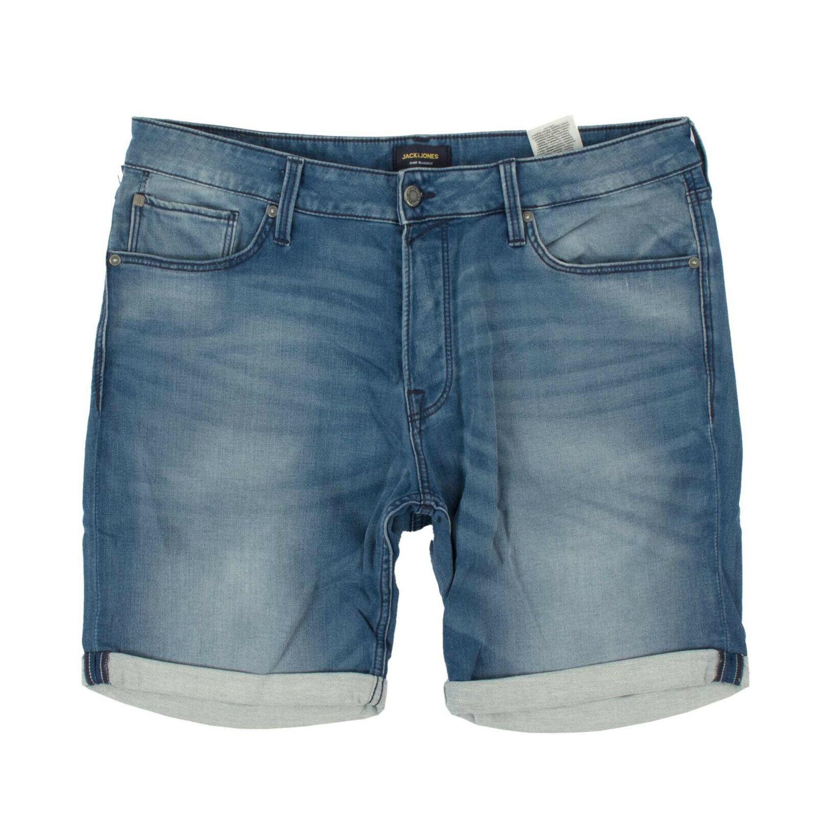 JACK & JONES Herren Jeans Shorts 12147066 Rick Blue Denim / 2XL / kurze Hose