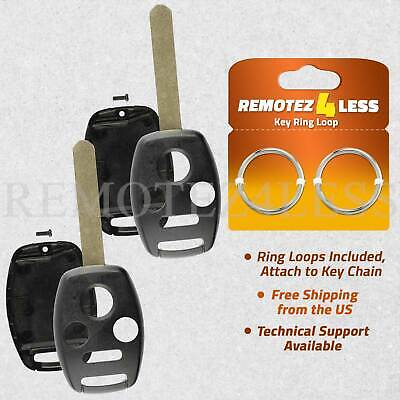 2 Remote Head Key Replacement Case Uncut Blade Shell Housing 4 Buttons for Honda Honda Replacement Blade