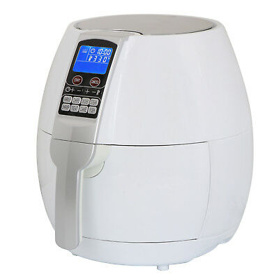 Electric Air Fryer 3.7qt 1500w With Lcd Touch Display Deep Rapid Fryer White