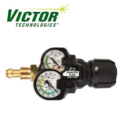 Victor Inert Gas Argon Regulator Edge 2.0 Flow Gauge Ess32-80cfh-580 0781-3641