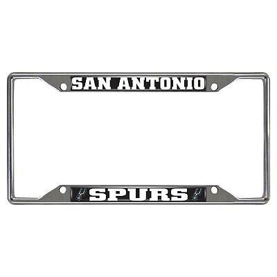 Fanmats NBA San Antonio Spurs Chrome License Plate Frame Deliv 2-4 Days