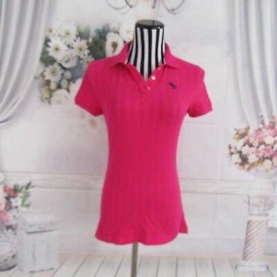 Abercrombie Fitch Pink Polo Short  Sleeve Shirt Top Size M for sale  Shipping to India