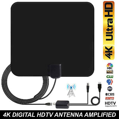 100 Meilen Indoor Digital HD TV Antenne Radius + Signalverstärker Booster DHL Indoor-antenne