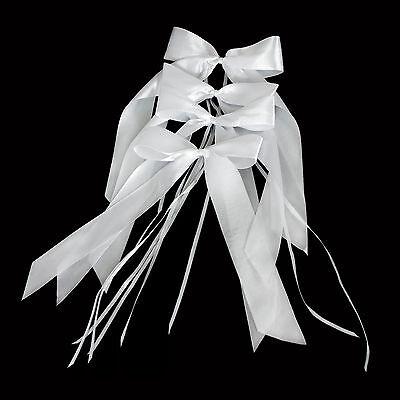 10 Antennenschleifen Hochzeitsschleifen in Weiss Deko Schleifen Hochzeit Deko