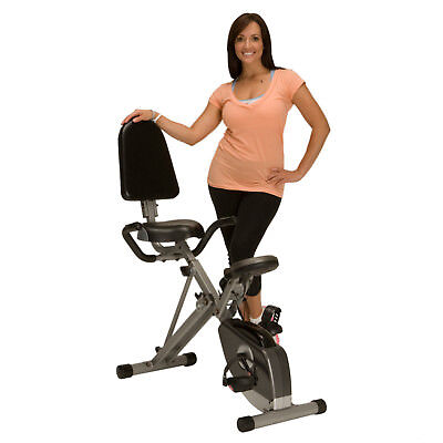 Exerpeutic Space-Saver Semi-Recumbent Bike with Pulse Fitness Exercise