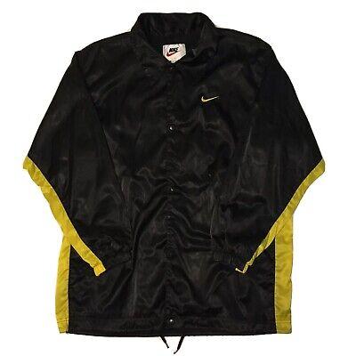 VTG 90s Nike Jacket Windbreaker Men's Large White Tag Swoosh Satin Spell Out OG