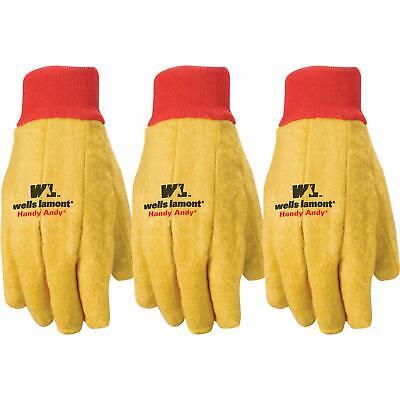 Wells Lamont Handy Andy Mens Indooroutdoor Cottonpolyester Chore Gloves 3-pk