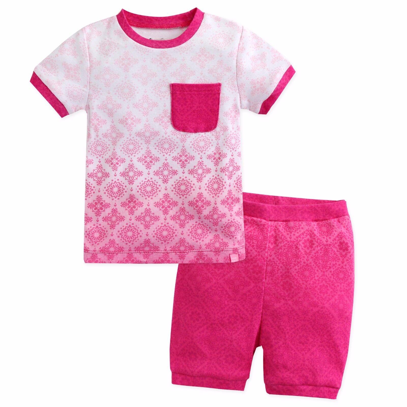 """Vaenait Baby Kid Girls Boys Clothes Short Outfit set /""""Bohemian Blue Pink/"""" 12M-7T"""