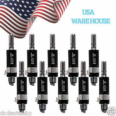 Usa 10pcs Dental Nsk Style Slow Low Speed Air Motor Handpiece E-type Black A0x9
