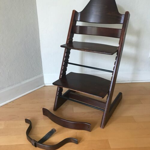 Stokke Tripp Trapp High Chair in Walnut with Extras